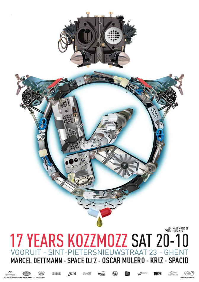 17 Years Kozzmozz - Sat 20-10-12, Kunstencentrum Vooruit