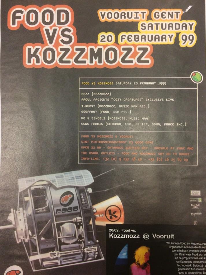 Food vs Kozzmozz - Sat 20-02-99, Kunstencentrum Vooruit