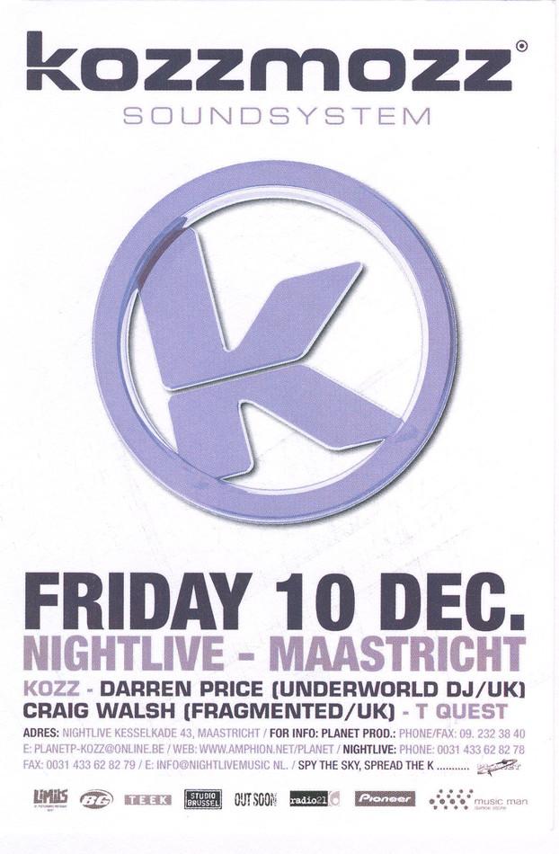 Soundsystem - Fri 10-12-99, Nightlive Maastricht NL