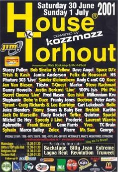 Kozzmozz @ House Torhout - Sun 01-07-01, Festivalweide Torhout