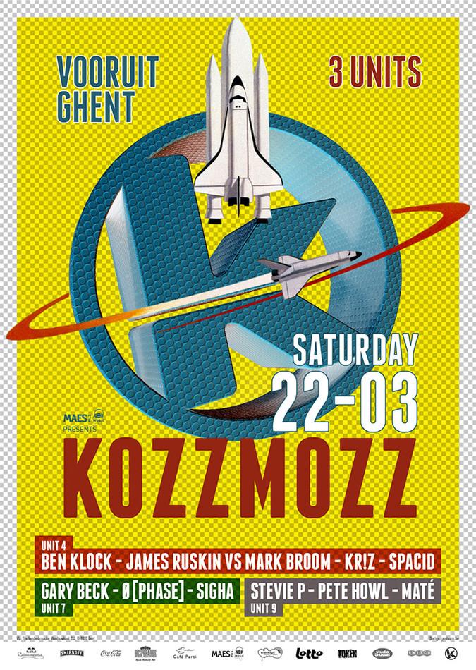 Kozzmozz: The Astronomical Unit Edition - Sat 22-03-14, Kunstencentrum Vooruit