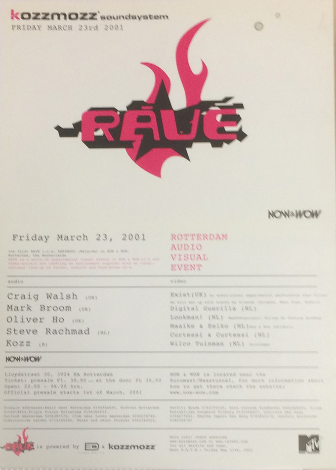 Soundsystem - Fri 23-03-01, Now & Wow Rotterdam NL