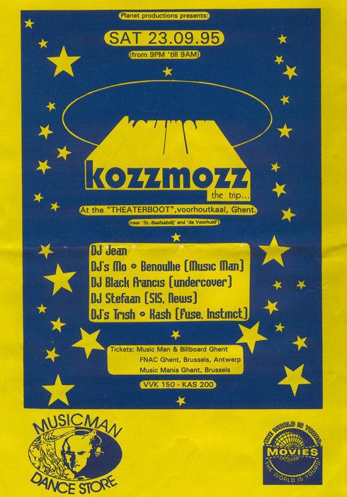 Kozzmozz - Sat 23-09-95, Theatreboat Ghent