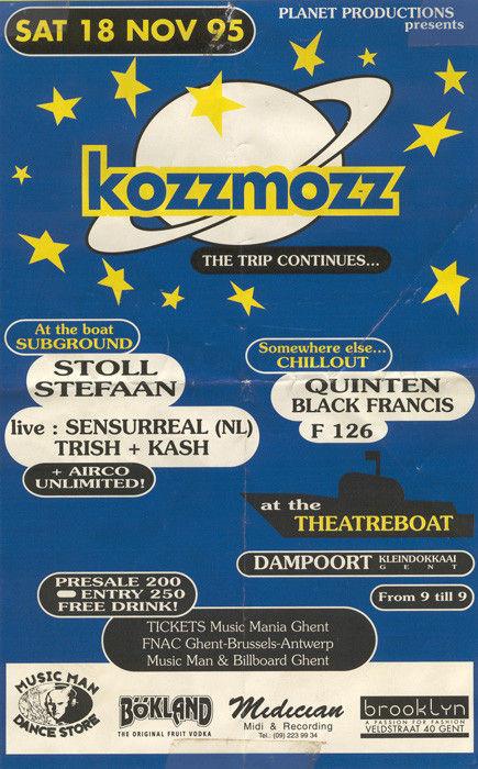 Kozzmozz - Sat 18-11-95, Theatreboat Ghent
