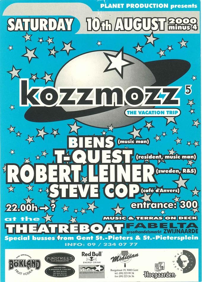 Kozzmozz - Sat 10-08-96, Theatreboat Ghent