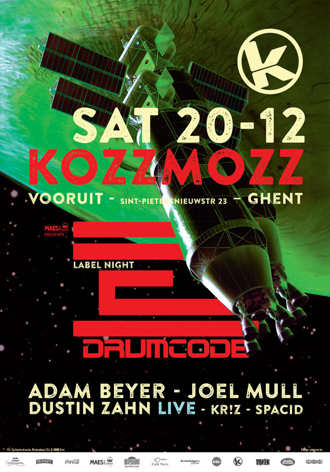 Kozzmozz: Mission Drumcode - Sat 20-12-14, Kunstencentrum Vooruit