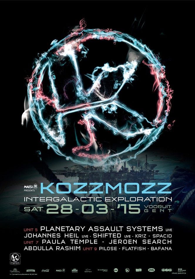 20 Years Kozzmozz: Intergalactic Exploration - Sat 28-03-15, Kunstencentrum Vooruit