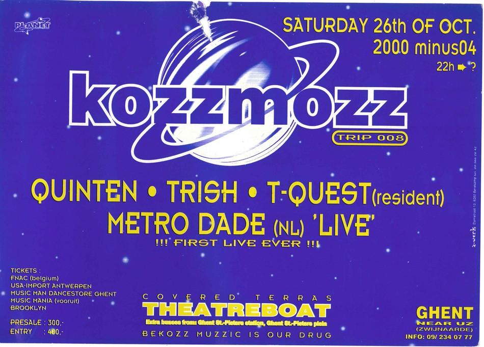 Kozzmozz - Sat 26-10-96, Theatreboat Ghent