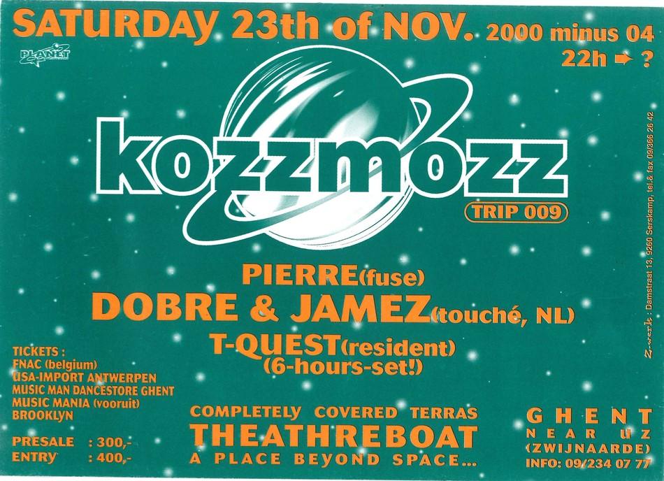 Kozzmozz - Sat 23-11-96, Theatreboat Ghent