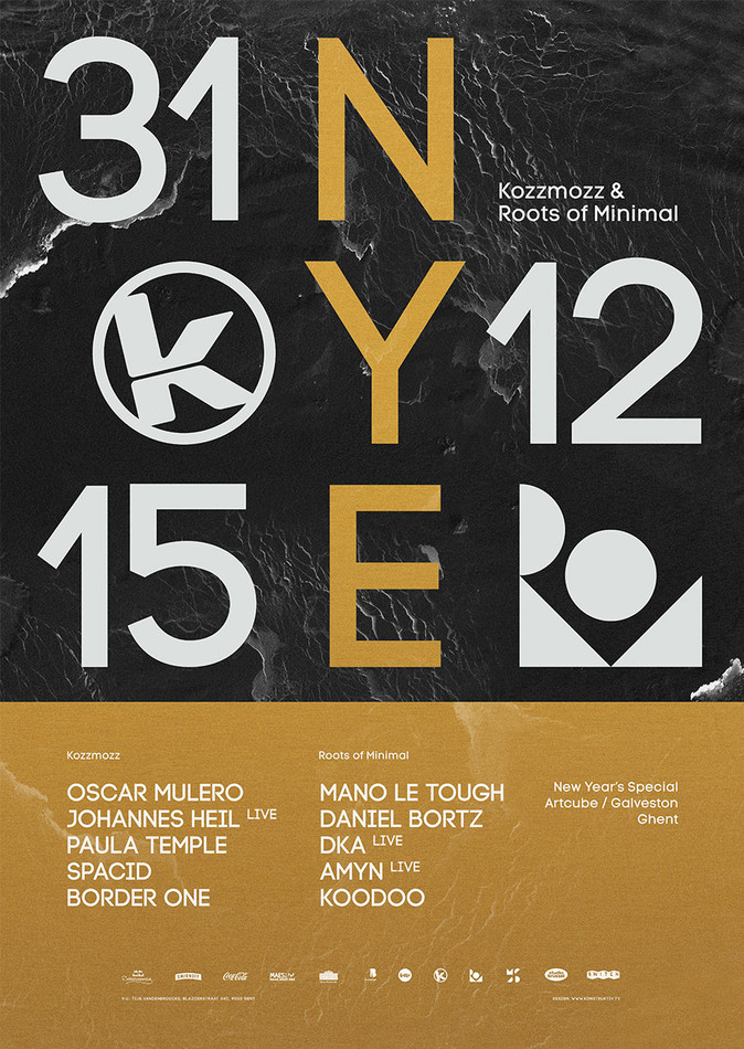 Kozzmozz & Roots of Minimal - New Year's Special - Thu 31-12-15, ArtCube (Galveston Site)
