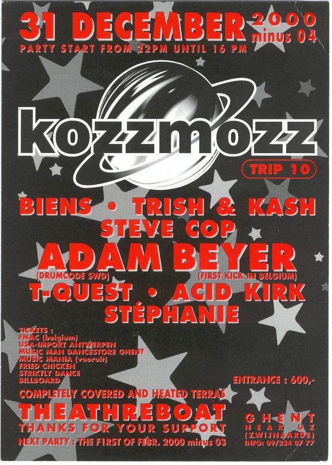 Kozzmozz - Tue 31-12-96, Theatreboat Ghent