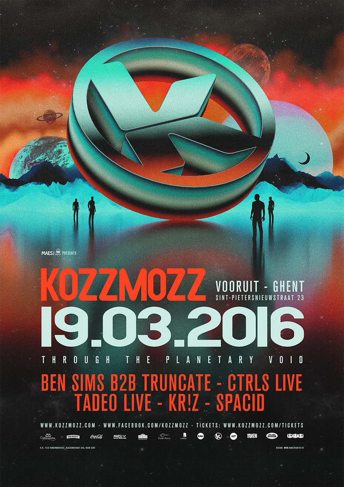 Kozzmozz: Through the Planetary Void - Sat 19-03-16, Kunstencentrum Vooruit