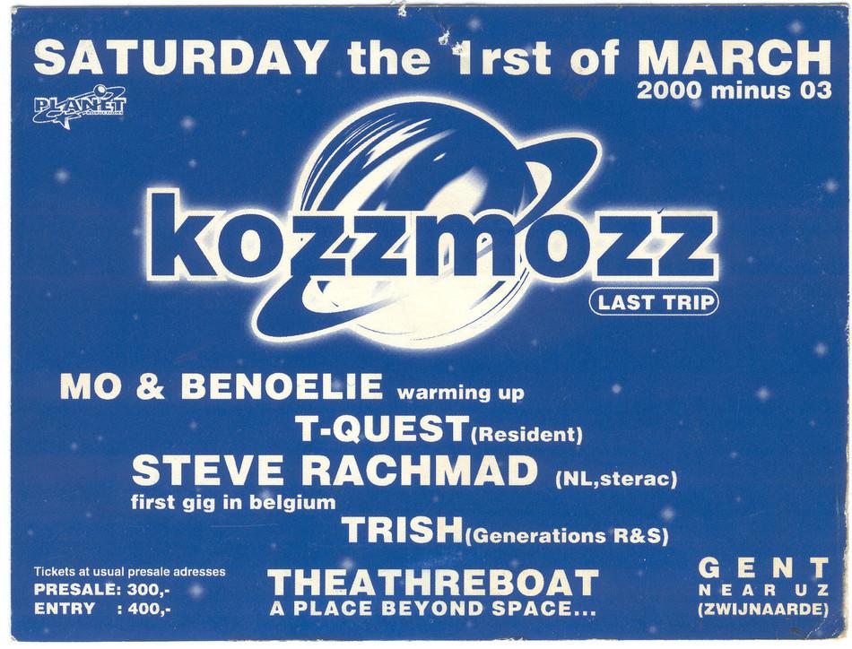Kozzmozz - Sat 01-03-97, Theatreboat Ghent