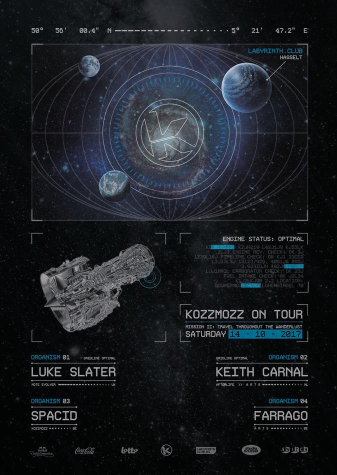 Kozzmozz on tour: Labyrinth, Hasselt - Sat 14-10-17, Labyrinth Club