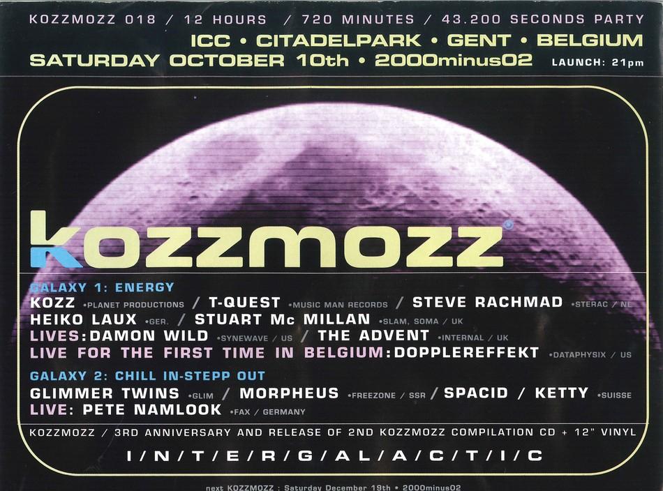 Kozzmozz - Sat 10-10-98, ICC Ghent