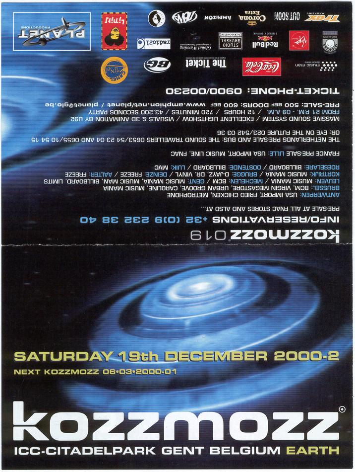 Kozzmozz - Sat 19-12-98, ICC Ghent