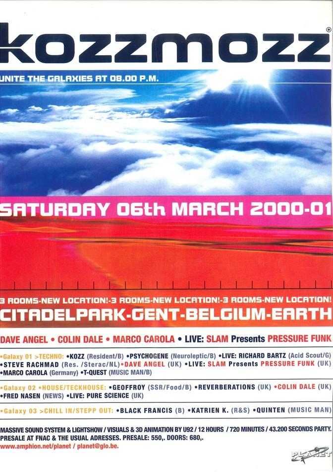 Kozzmozz - Sat 06-03-99, Kuipke Ghent