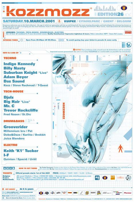 Kozzmozz - Sat 10-03-01, Kuipke Ghent