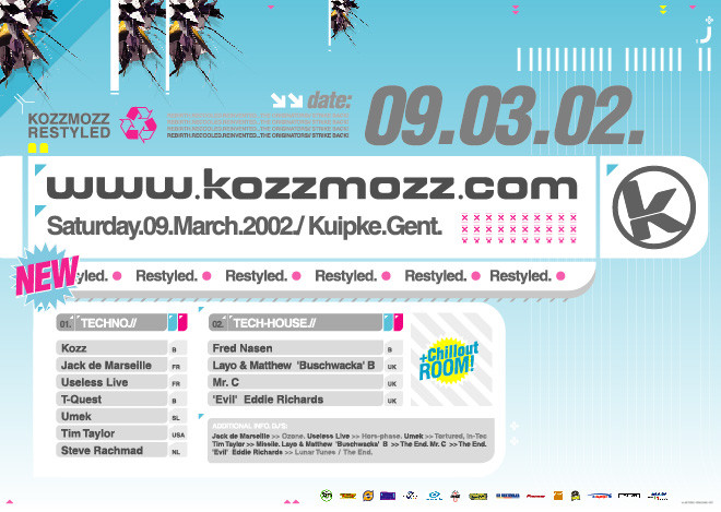 Kozzmozz - Sat 09-03-02, Kuipke Ghent