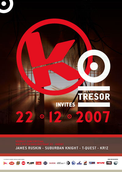Kozzmozz meets Tresor - Sat 22-12-07, Kunstencentrum Vooruit