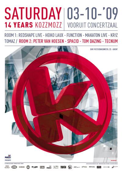 14 Years Kozzmozz - Sat 03-10-09, Kunstencentrum Vooruit